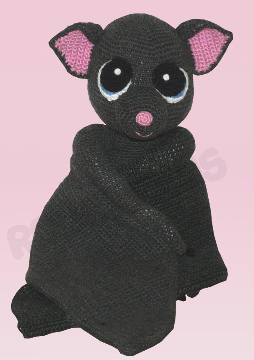 Häkelanleitungen für Halloween Häkelanleitung Betty die Fledermaus Amigurumi