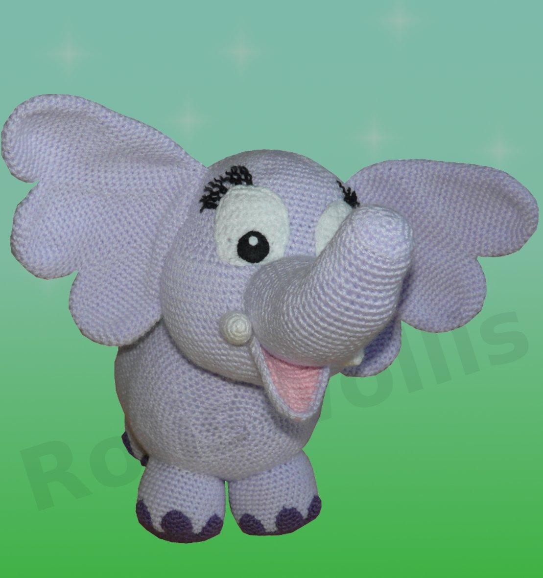 Häkelanleitungen für Tiere und Figuren Häkelanleitung Elfi der Elefant Amigurumi