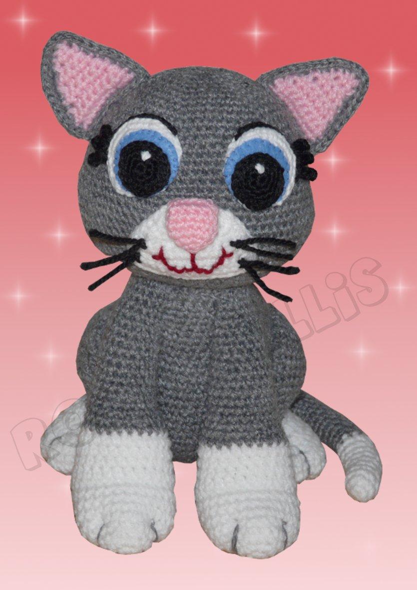 Häkelanleitungen für Tiere und Figuren Häkelanleitung Kessy die Katze Amigurumi
