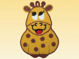Häkelanleitungen für Topflappen Häkelanleitung Lina die Giraffe Applikation