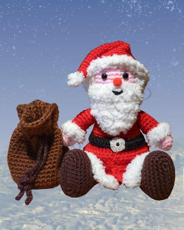 Häkelanleitungen für Weihnachten Häkelanleitung kleiner Weihnachtsmann Amigurumi