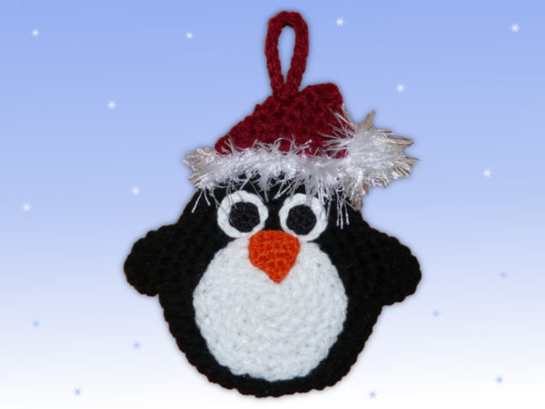 Häkelanleitungen für Weihnachten Häkelanleitung Adventskalender Beutel Pinguin Applikation