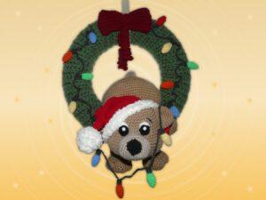 Häkelanleitungen für Türkränze Häkelanleitung  Weihnachtstürkranz tollpatschiger Teddy Amigurumi
