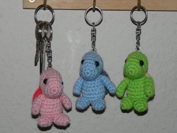 Häkelanleitungen für Schlüsselanhänger Häkelanleitung Schlüsselanhänger Schildkröte Amigurumi