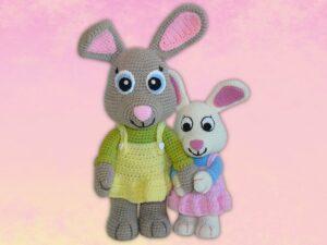 Häkelanleitungen für Tiere und Figuren Häkelanleitung Nelly der Hase Amigurumi