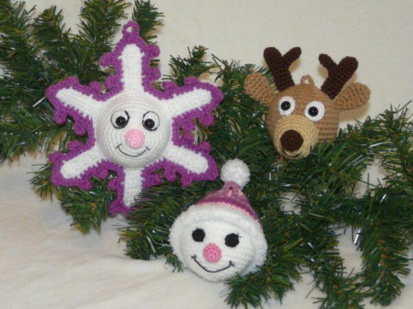 Häkelanleitungen für Weihnachten Häkelanleitung Weihnachtsbaumkugeln Amigurumi