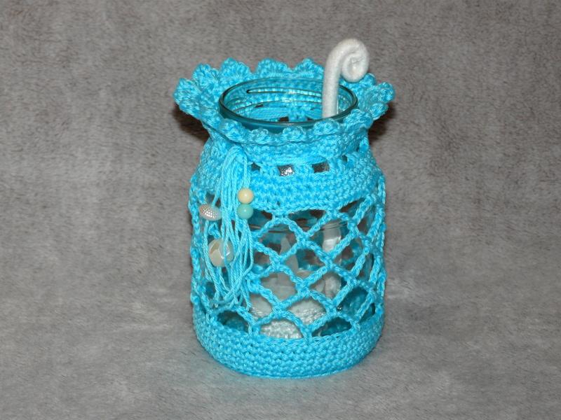 Häkelanleitungen für Sonstiges Häkelanleitung Teelichthalter Einsatz