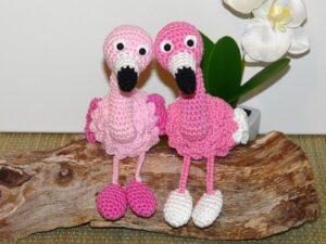 Häkelanleitungen für Schlüsselanhänger Häkelanleitung Flamingo Amigurumi
