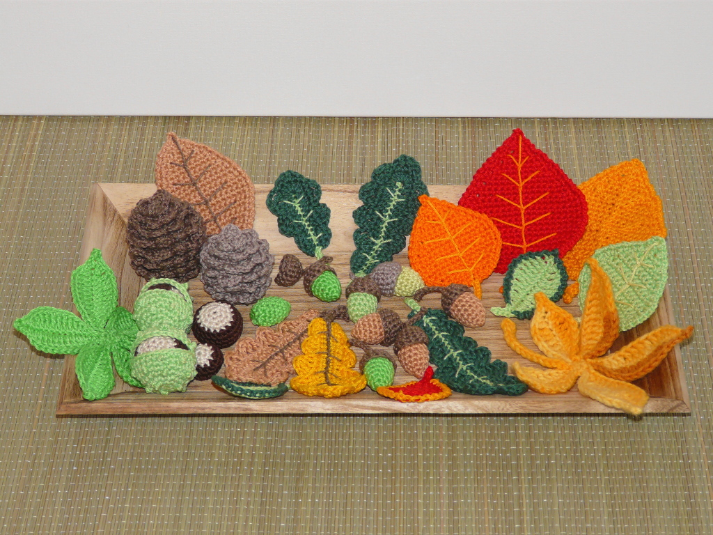 Herbstdeko Häkelanleitung