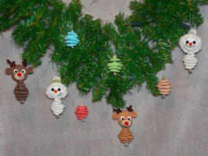 Häkelanleitungen für Weihnachten Häkelanleitung Weihnachtsanhänger Amigurumi