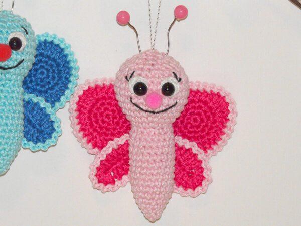 Häkelanleitungen für Frühling Häkelanleitung kleiner Schmetterling Amigurumi