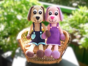 Häkelanleitungen für Tiere und Figuren Häkelanleitung Schlenkertier Hund Amigurumi