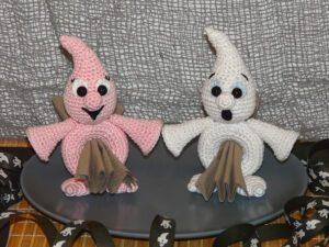 Häkelanleitungen für Halloween Häkelanleitung Serviettenring Geist Amigurumi