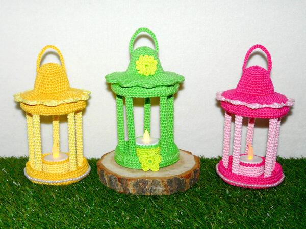 Häkelanleitungen für Frühling Häkelanleitung Frühlings Laterne Dekoration