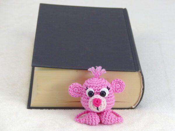 Häkelanleitungen für Lesezeichen Häkelanleitung Teddy Lesezeichen Amigurumi