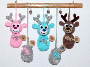 Häkelanleitungen für Weihnachten Häkelanleitung Adventskalender Rentier Adventskalender