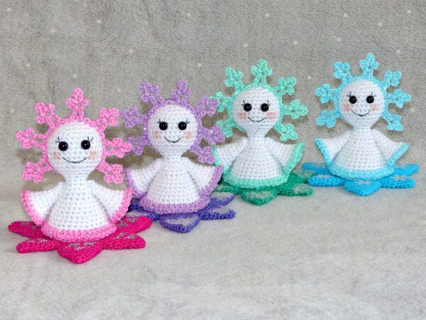 Häkelanleitungen für Weihnachten Häkelanleitung kleines Schneeflöckchen Amigurumi